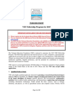 2015 VEF Fellowship Announcement ENG