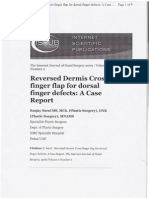 Reversed Dermis Cross Finger Flap