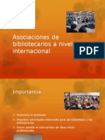 Asociaciones de Bibliotecarios a Nivel Internacional