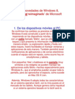 Las 8 Novedades de Windows 8