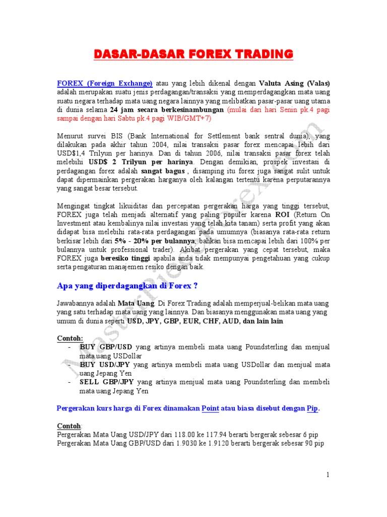 Forex dan Dasar-dasar CFD