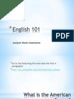 Eng 101 Analysis Workshop