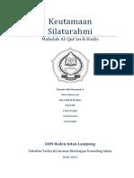 Makalah Al-Quran & Hadis (Keutamaan Silaturahmi)