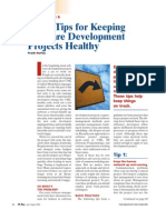 (Article) Seven Tips for Keeping Software Development Projects Healthy (IEEE, 2002)