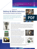 SES - Battery and Motor Selection