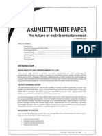 Akumiitti White Paper the Future of Mobile Entertainment