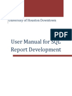 User Manual for SQL Report Development