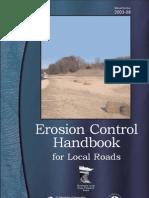 Erosion Control Handbook for Local Roads