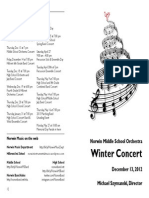 Norwin MS Orchestra Program Winter 2012