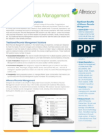 Alfresco Records Management Datasheet
