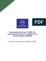 Guia práctica FEMP sobre la Ley 11/2007, de 22 de Junio.