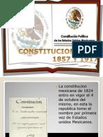 CONSTITUCION 1824, 1857 Y 1917.pptx