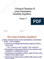 Chapter 17b Solubility