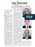 Stradling Assisting on IPOs