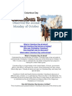 The History of Columbus Day
