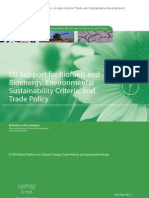"EU Support for Biofuels and Bioenergy, ""Environmental Sustainability"" Criteria, and Trade Policy"