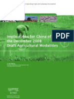 Implications for China of the December 2008 Draft Agricultural Modalities