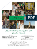 St. Rita Parish Bulletin 10/13/2013