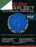 Star Trek - Star Fleet Technical Manual 160 Pages (1975)
