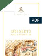 The Ritz London Dessert Menu - Summer 09