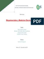 Metrologia. Electrofisiología y Medición de Biopotencialess.