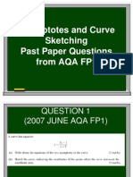 Asymptotes and Curve Sketching Past Paper Qus