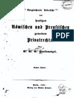 Vergleich Römisches und Preußisches Privatrecht (1852)