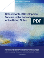 Determinants of Development Succes in the Native Nations of the United States