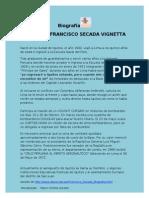 Biografía  Coronel Francisco Secada Vignetta