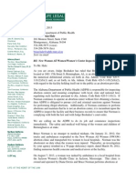 Life Legal Defense Foundation letter to Alabama Department of Health - October 14, 2013