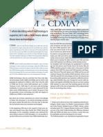 GSM VS CDMA