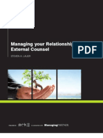 Managing Your Relationship With External Counsel