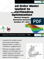 Reduced Order Model Applied to Water Flooding Optimization