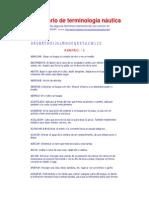 diccionario terminologia nautica