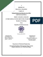 Rahul Soni's Training Report