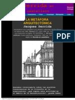 Derrida en castellano - La Metáfora arquitectónica