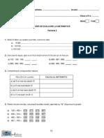 Mate.info.Ro.2627 Evaluarea Nationala - Matematica- Clasa a IV-A - Test Pilot