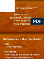 Introduction to Bio Mechanics Slide Show