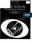JAZZ SOLOS Playalong for Clarinet