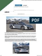 La Porsche 911 Turbo Cabriolet à découvert