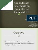 Cuidados de enfermería en pacientes de Hemocultivo