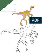 Free Coloring Cartoon Dinosaur Velociraptor Letter