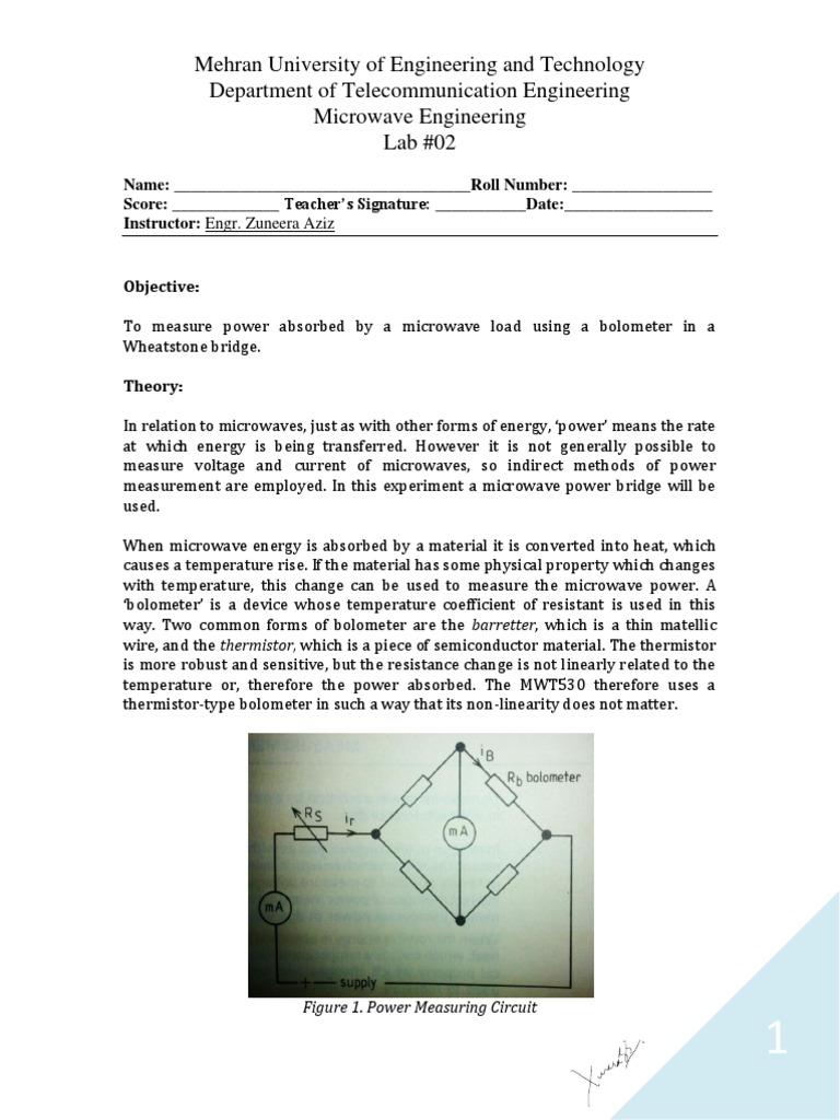 wheatstone bridge experiment theory