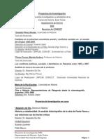 Proyectos de Investigacion en Curso