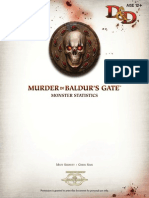 Murder in Baldur's Gate Monster Statistics