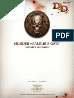 Murder in Baldur's Gate Monster Statistics