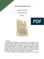 Evangelhos Apócrifos - Testamento de Gad.doc