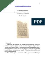 Evangelhos Apócrifos - Testamento de Benjamim.doc