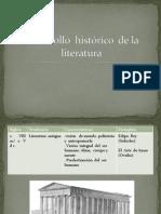 Desarrollo  histórico  de la literatura