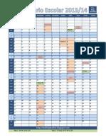 Calendário escolar 2013_14